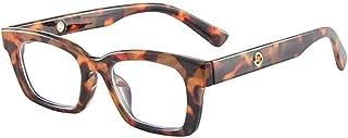 GODYS - Gafas de sol retro pequeñas cuadradas de los hombres de moda de moda gafas de sol espejo decorativo-Leopard_Frame_Transparent_Sheet