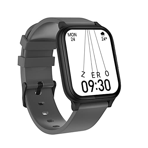 Smartwatch, 1.7' Reloj Inteligente de Pantalla Táctil, Pulsera Actividad Inteligente con Pulsómetro, Monitor de Sueño, Reloj Calorías Podómetro Impermeable IP67 para Android e iOS,Gris