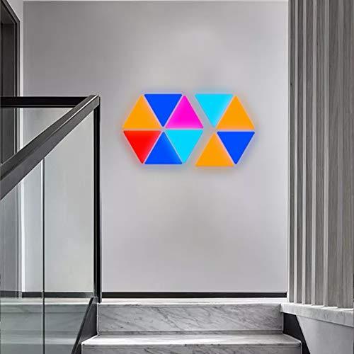 JAKROO RGB Nachtlicht DIY Geometrie Spleißen Quantum Leuchte Quanten Lampe 16 Zehntausend Farben und Effekte für Wohnkultur, 9 pcs