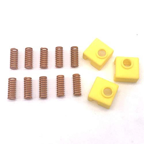 ULTECHNOVO Impresora 3D 8X20 Resorte de Nivelación de Cama Caliente - Manga de Silicona Resistente a Altas Temperaturas Mk8