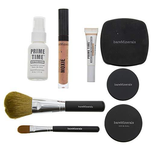 Set bareMinerals Base Foundation Primer 30ml / Base Primer Shadow/Lipgloss Pink Peach/Base Primer Powder/Concealer / 2 Brushes Powder & Concealer/Blush