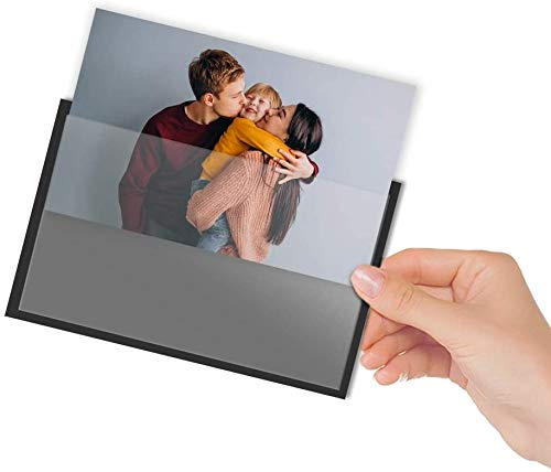 Quadow 4x6 Inch Magnetic Picture Frames for Refrigerator - Strong Photo Magnets Pocket/Sleeves for Your Fridge, Locker and Office Cabinet