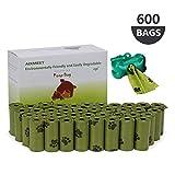 AIXMEET Bolsas Caca Perro, 600 Bolsas de Compost para Perros con...