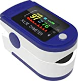 Multipurpose Digital Blood Oxygen Saturation Spo2 And Pulse Rate Monitor, Perfect For Home Health Care And Outdoor Activities - Batteries Not Included (Blue)