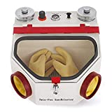 Aries Outlets 50W Dental Lab Equipment Twin Double Pen Fine Sandblaster Sand...