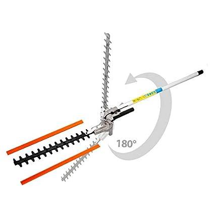Herramienta multifunción térmica 4 en 1: motosierra-podadora, cortasetos, desbrozadora, extensible