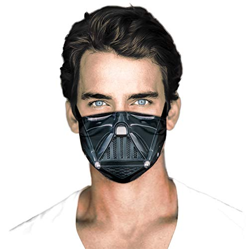 Man Women's Reusable Adjustable Darth Vader Face Mask with 2 Filters Reusable Face Mask Washable-7
