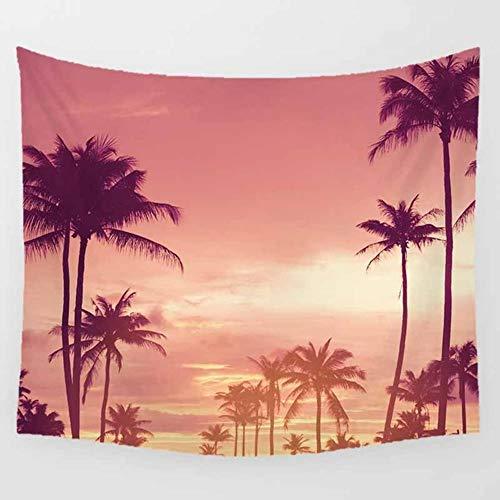 Tapiz de paisaje de mar de belleza atardecer luces del norte fondo decoración de pared rectangular colgante tapiz tamaño grande 200 cm por 150 cm