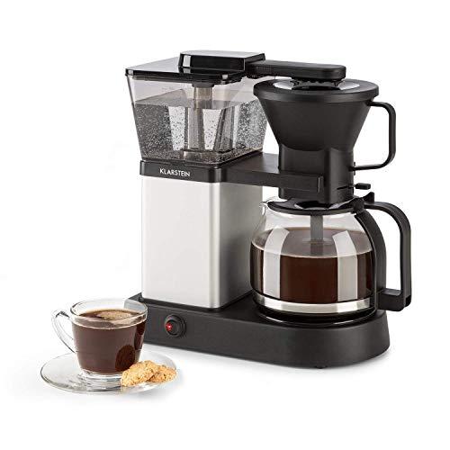 YXZQ Kaffeemühle, Filterkaffeemaschine mit Glaskanne, Timer und programmierbarem Wärmer, Filterkaffeemaschine mit isolierter Kanne, Schwarze Kaffeemaschine