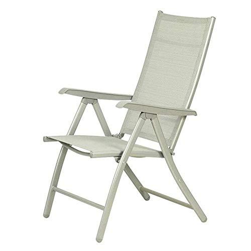 Plegable de Aluminio Ajustable del Respaldo reclinable Apoyabrazos Exterior Tumbona Silla de jardín apilable (Color: 2 Piezas) LIUH (Color : 1 Piece)