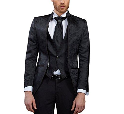 MMUGA Hochzeit Herren Anzug Cutaway Gehrock Schwarz 52
