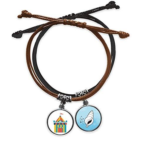 DIYthinker Super lustiges Park Zelt Illustration Armband Seil Leder Kegel