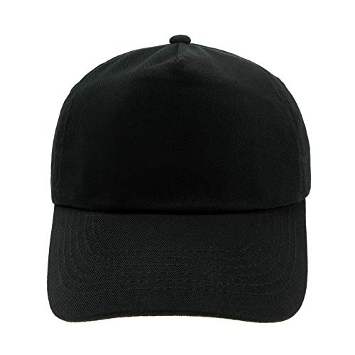 4sold Junior Original 5 Panel Cap Unisex Jungen Mädchen Mütze Baseball Cap Hut Kinder Kappe (Black)