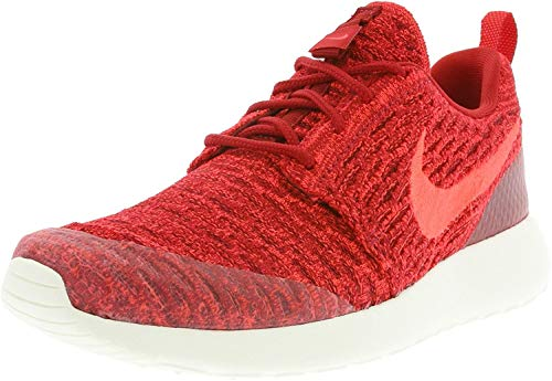 Nike Women's WMNS Roshe One Flyknit Trainers Red Size: 4.5