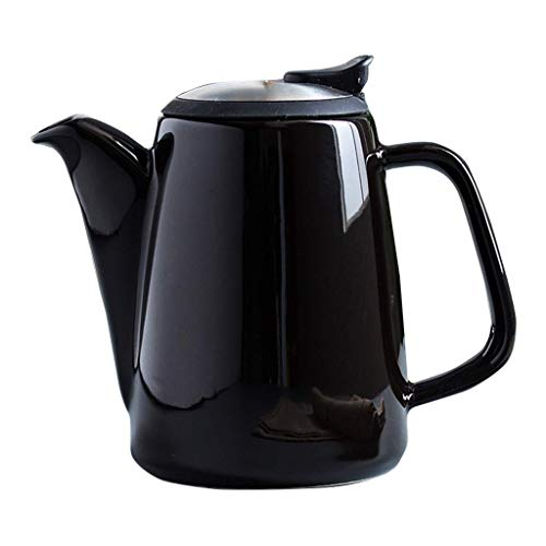 PIVFEDQX Lucky Star Ceramic Large Teapot - 1000ml - mit extrafeinem Edelstahldeckel für Loseblatt-Tee (Farbe: Grün)