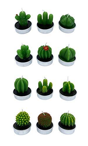 12 värmeljus kaktus kaktusdesign delikat och söt för terrass party födelsedag... (nummer 1)