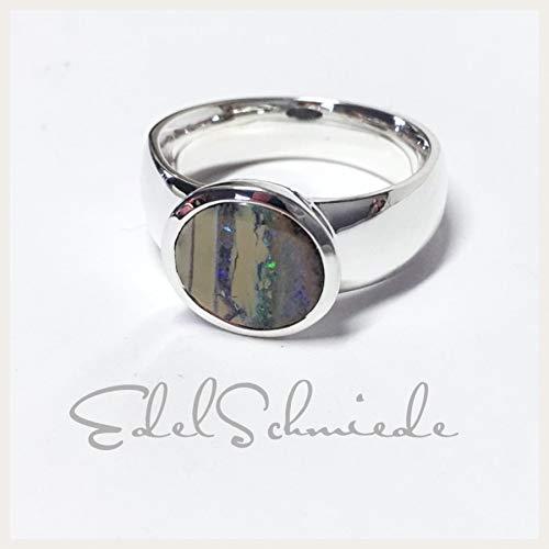 Silberring mit ausgefallenem Opal - poliert - 925/- #55