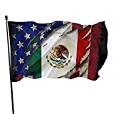 Proud Mexican American Flag Garden Flag 3x5 Ft Banner With Brass Grommets Fly House Indoor Outdoor Home Boat Yacht Car Decorations