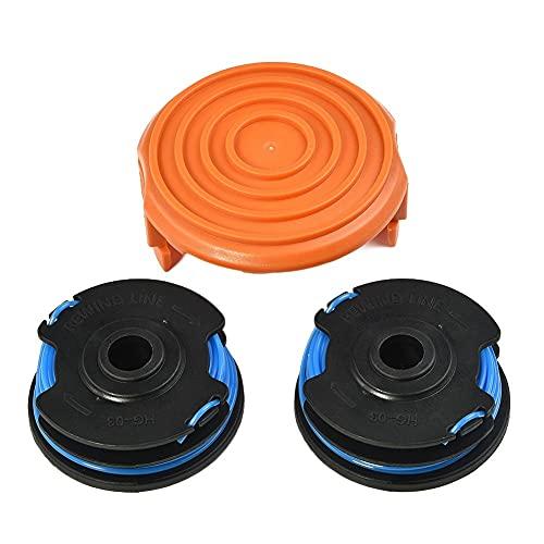 NICOLIE Cubierta de tapa para carrete de césped compatible con Flymo Contour 500 XP 700 600HD Power Plus PTXT25 EIT 23 250 300 ET 23 23DX 25 + DX Accs