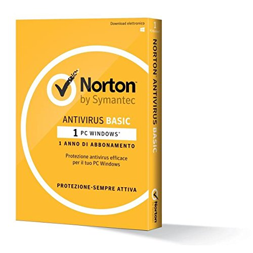 Symantec Norton AntiVirus Basic Base license 1usuario(s) 1año(s) - Seguridad y antivirus (1, 1 año(s), Base license, Soporte físico)
