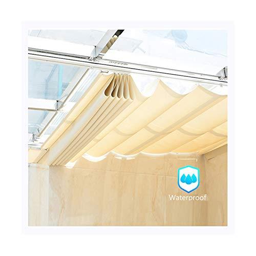 AOTNZ Velas De Sombra Impermeables, Exterior Retráctil Onda Protector Solar Pabellón Cubierta De Repuesto por Marco De Pérgola Patio Terraza Sala De Sol Persianas Enrollables Poliéster