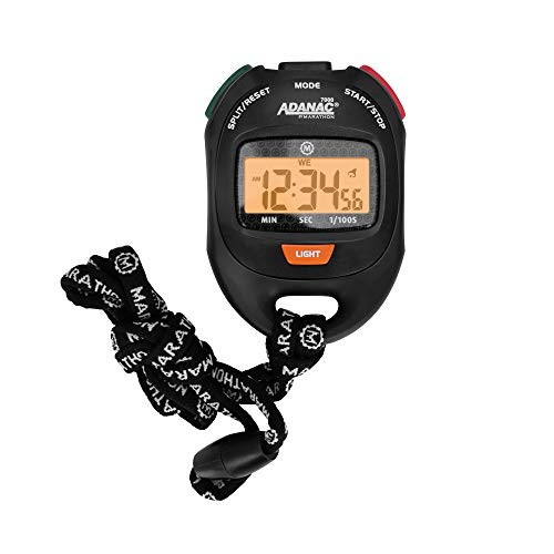 ADANAC 7000 by Marathon Professional Grade Digital Stopwatch Timer with Extra Large LCD Display and...