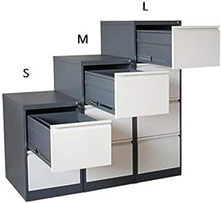 Huizi File Storage Rack, Large Capacity Push-Pull Drawer Office Cabinet Lockable Function Efficient Design Anti-Theft Lock...