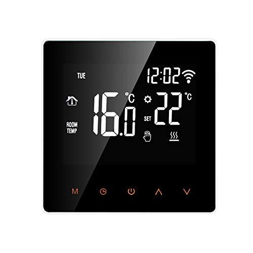 Fesjoy Termostato Inteligente Wi-Fi Caldera de Agua/Gas Controlador de Temperatura Digital Control de teléfono móvil Pantalla táctil Pantalla LCD Semana Función anticongelante programable Termostato