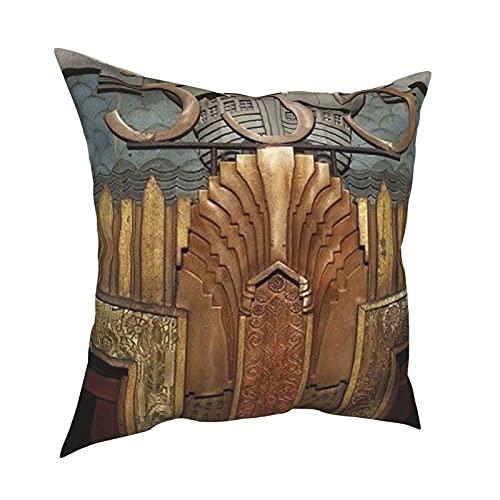 Reebos Fundas de almohada, Art Deco, Art Nouveau, vintage, original, elevador, decoración para el hogar, fundas de cojín cuadradas para sofá, sala de estar, cama de 45,7 x 45,7 cm