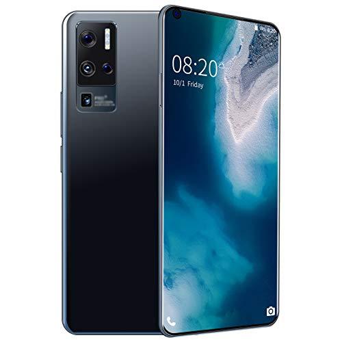 DZWSD Teléfonos Móviles X50Pro+,Teléfono Celular Android10.0,7.0 Pulgadas Teléfono Inteligente Desbloqueado,24MP+48MP,64G,128G,Blanco,Negro,Azul.