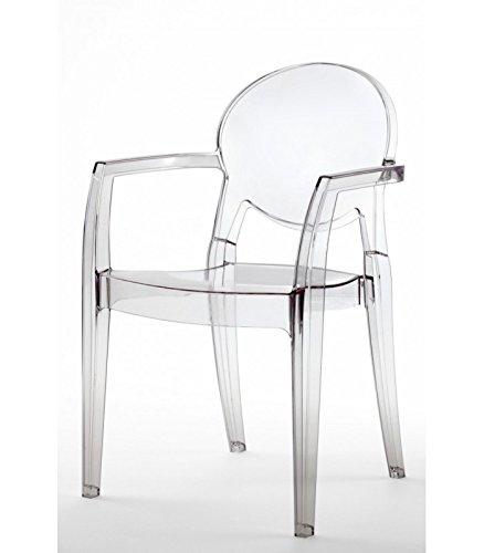 Scab Design Poltrona Igloo in policarbonato Made in Italy - Set da 2 - Trasparente