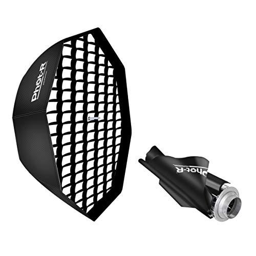 Phot-R Professionelle Octagon Folding Umbrella Softbox Reflektor mit Bowens S-Type Berg Sppedring Photo Studio Strobe-Blitz für Flashguns und...