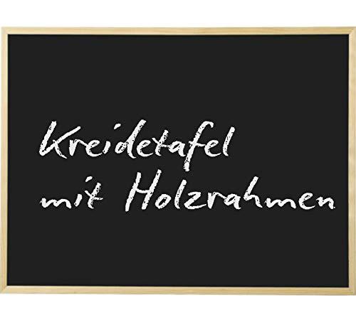 Kreidetafel 80 x 100 cm Schultafel mit Holzrahmen
