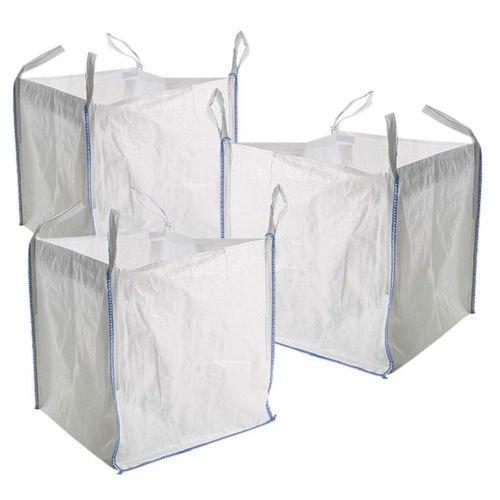 FIBC Builders Bag Garden Waste Storage Bag Storage Sacks 1 Tonne X 5