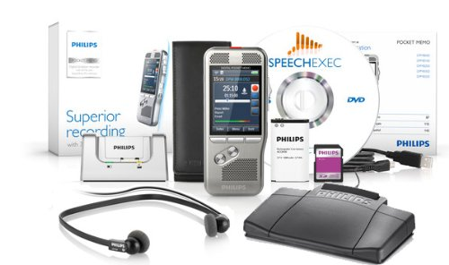 Philips DPM-8000DT Digital Pocket Memo with Speech Exec Pro Dictation and Transcription Software with SR Module