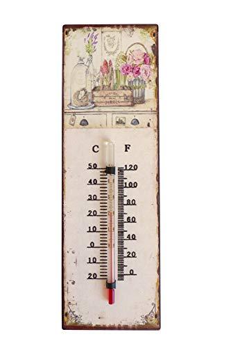 N / A Gartenthermometer Nostalgie 25 cm Außenthermometer Innenthermometer Thermometer