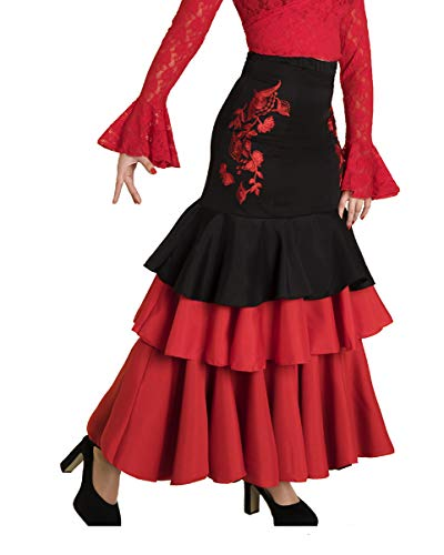 Falda de Mujer para Danza Flamenco o sevillanas Made IN Spain (Talla M)