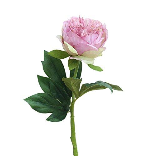 Trada Blumen-Köpfe Künstlich Blumen, Kunstseide gefälschte Blumen Pfingstrose Blumen Hochzeitsstrauß Braut Hortensien Dekor Plastikblumen Deko Pflanzen für DIY Hochzeit Party (Lila) - 3
