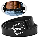 POYOLEE Concealed Carry CCW Leather Gun Belt | Top Grain leather Belt for Gun Carry | Mens Heavy Duty EDC Black Belt 1 1/2-Inch