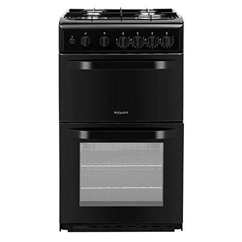 Hotpoint HD5G00KCB - Olla de gas con doble cavidad (50 cm), color...