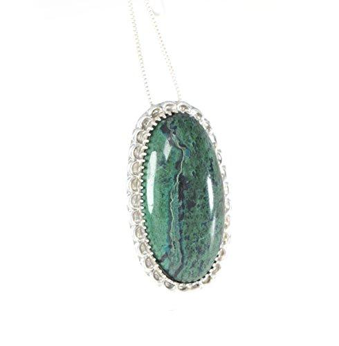 Eilat Stein Anhänger in 925 Sterling Silber + Halskette #2