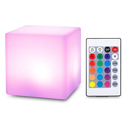 Usb Wiederaufladbare Nachtlicht Wasserdichte Kontrolllampe 16 Farben Ändern Remote Led Cube Form Licht Für Kinder Baby Schlafzimmer