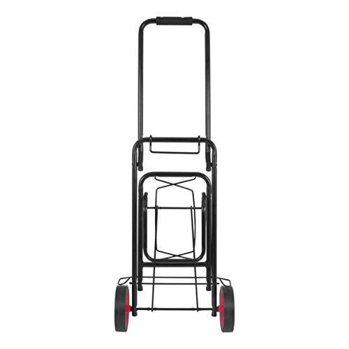 Milestone Camping 25180Milestone 25180 50KG Heavy-Duty Trolley | Ideal for Camping, Fishing and Festivals | Easy to Store | Sturdy and Durable Milestone Folding Kit Black, 50 Kg, 50kg