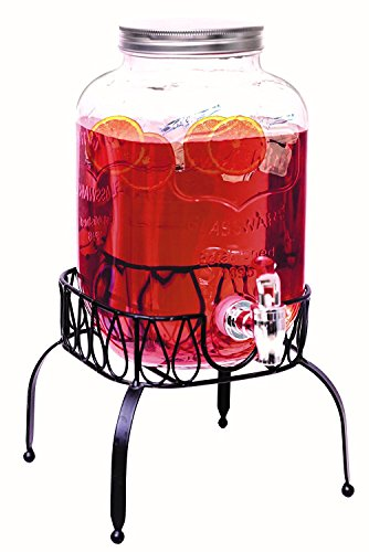 Rammento Vintage Beverage Glass Drink Dispenser With Stand (4 Litre With Stand) by Rammento