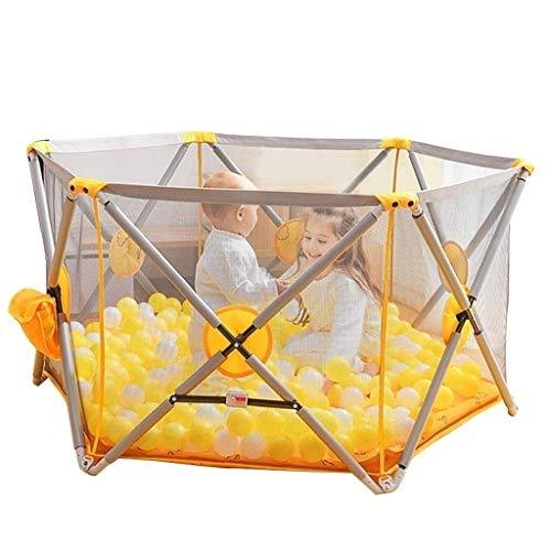 DBWIN Playpens Baby Fence Aire de Jeu intérieure pour Enfants et bébés Easy Fold pour Tout-Petits et bébés, 120x120x70CM