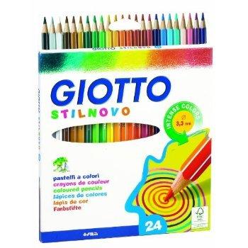 2 X Giotto Stilnovo pastelli colorati in astuccio 24 colori