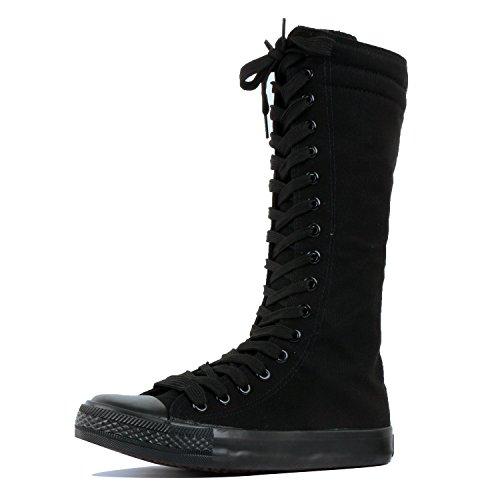 DW Sneaker Black Canvas-Short 6