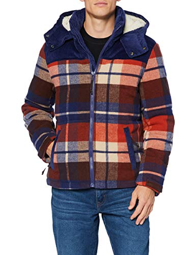Wrangler The Check Pop-Over Giacca, Puce Brown, L Uomo