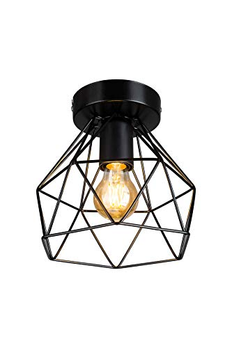Modelight pendelleuchte retro lampe deckenleuchte schwarz vintage lampe lampe industrial, Hängelampe deckenlampe lampe wohnzimmer hängeleuchte lampe modern küchen lampe 1 E27 flammig