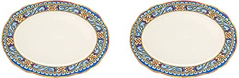 Euro Ceramica Duomo Collection supreme Oval Italian-Inspired 18